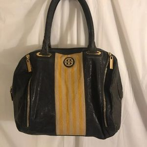 Tory Burch Multicolored Blue Leather Satchel Bag